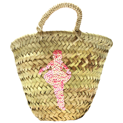Panier enfant en osier - Danseuse Sequin Rose