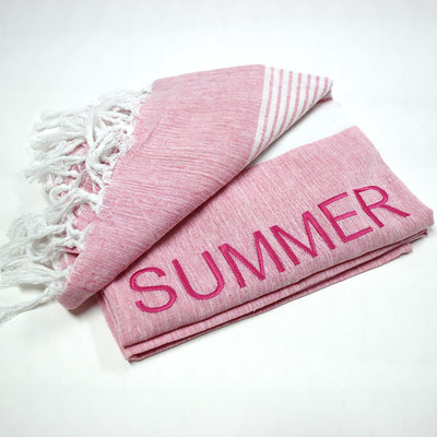 Fouta Rose Brodée - Summer