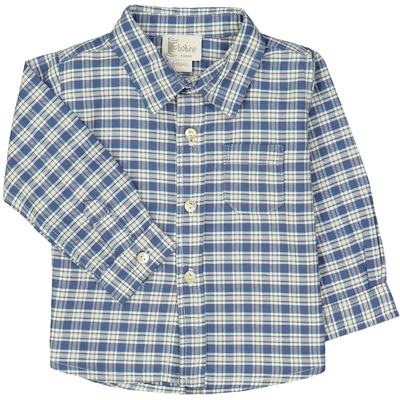 Chemise bébé - Carreaux bleus et blancs