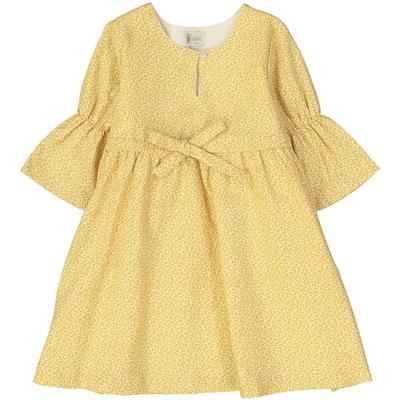 Robe Zita - Feuilles d'Automne jaunes