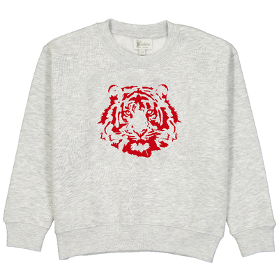 Sweat gris chiné - Tigre