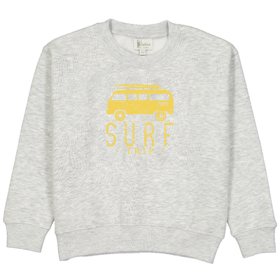 Sweat gris chiné - Van Surf trip