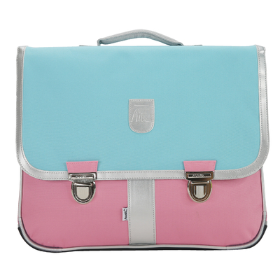 Cartable - Turquoise et Rose