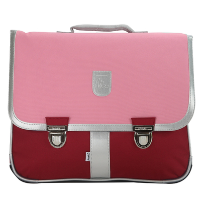 Cartable - Rose et bordeaux