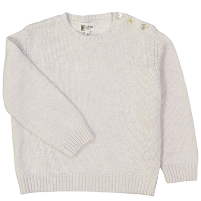 Pull boutonné - Perle