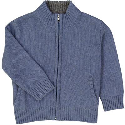 Gilet col montant zippé - Bleu jean