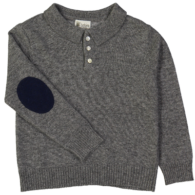 Pull Col Polo - Gris Ardoise