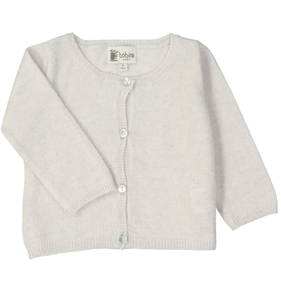 Cardigan bébé perle en coton