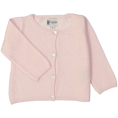 Cardigan bébé - Rose blush