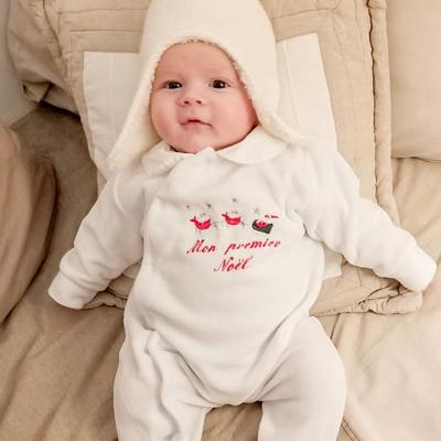 """Pyjama """"Mon premier Noël"""" avec traineau du père Noël"""