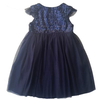 Robe en tulle et sequins - Bleu Nuit<br>Disponible uniquement en 2/3