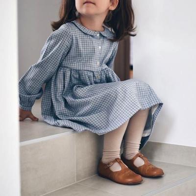 Robe Claire - Carreaux bleus<br>Existe uniquement en 4 ans<br>