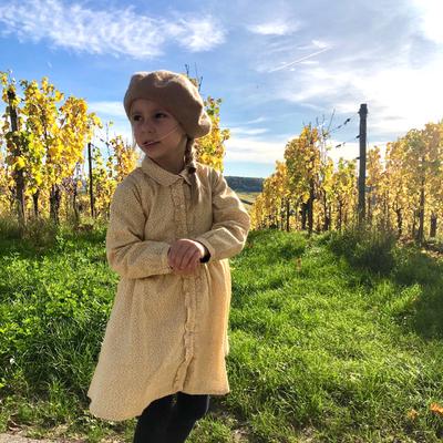 Robe Astrid - Feuilles d'Automne jaunes