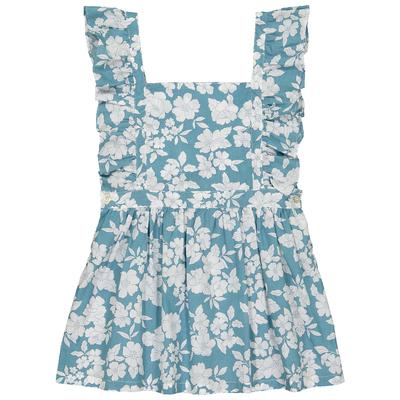 Robe enfant style chasuble <br>imprimée aqua bloom - EXCLU WEB<br>