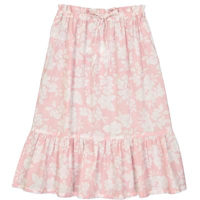 Jupe mi-longue fille imprimée pink bloom