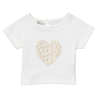 T-shirt cœur bébé - Carottes roses