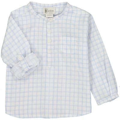 Chemise bébé garçon - Carreaux bleus