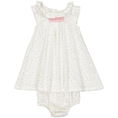 Robe et culotte bébé Alma - Motifs roses
