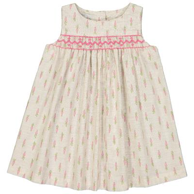 Robe bébé Suzie - Carottes roses