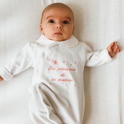 """Pyjama """"La princesse de sa maman"""""""