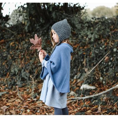 Poncho Fille - Bleu jean