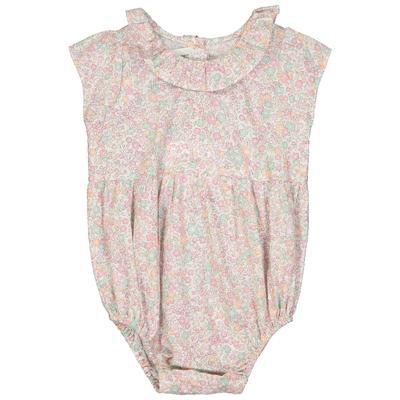 Combicourt bébé fille imprimé fleurs pastels