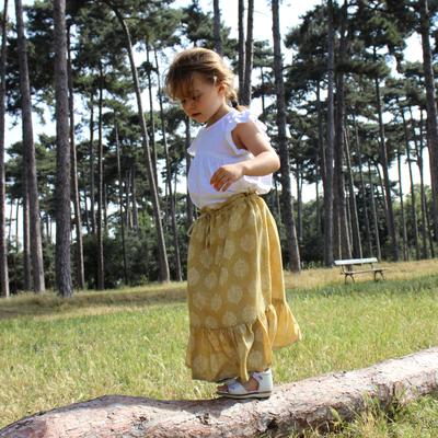 Jupe mi-longue fille imprimée mandala
