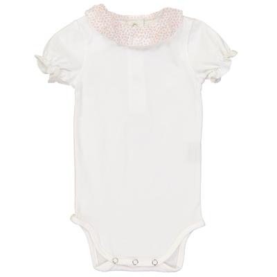 Body bébé col froufrou motif fraises