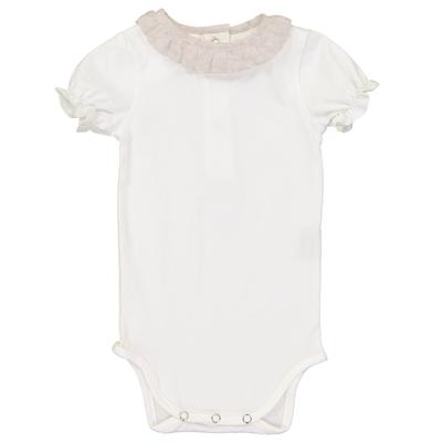 Body bébé col froufrou motif pissenlit