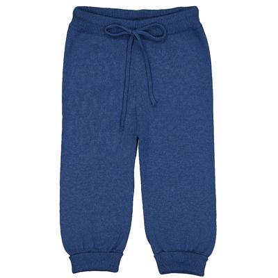 Pantalon bébé en coton bleu