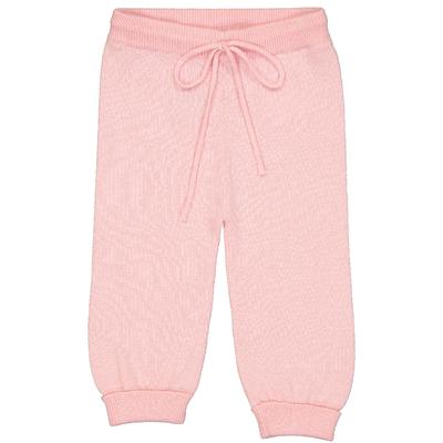 Pantalon bébé en coton rose<br>Existe uniquement en 6 mois<br>