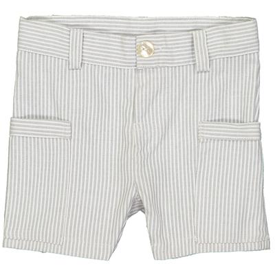 Bermuda petit garçon à rayures grises