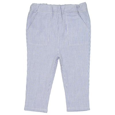 Pantalon bébé en coton à rayures marines
