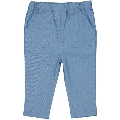 Pantalon bébé en coton style denim