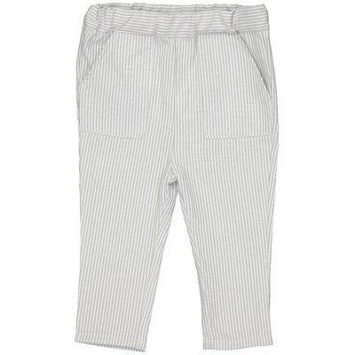 Pantalon bébé en coton à rayures grises