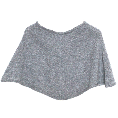 Poncho court fille gris
