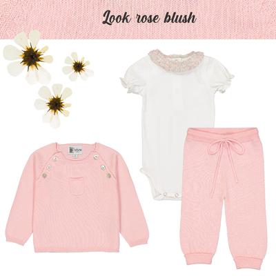 Look bébé fille rose blush<br>Existe uniquement en 6 mois<br>