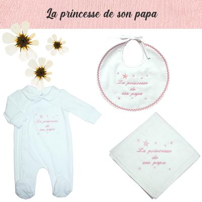 Accessoires de naissance - La princesse de son papa