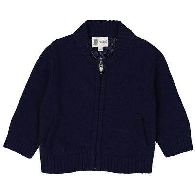 Gilet zippé bébé bleu marine