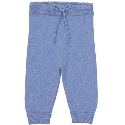 Pantalon bébé bleu pastel en laine