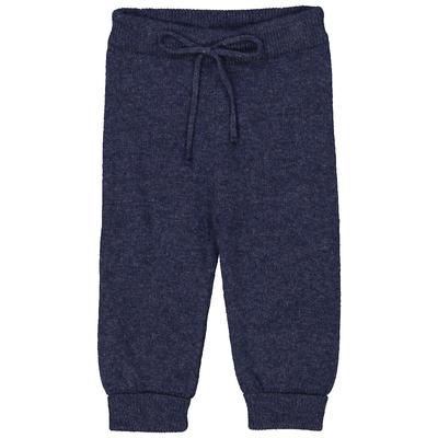 Pantalon bébé bleu denim en laine