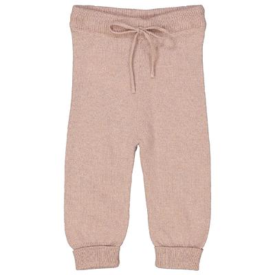 Pantalon bébé rose poudre pailleté en laine