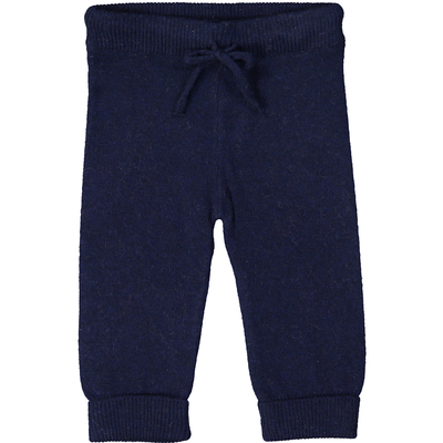 Pantalon bébé bleu marine en laine