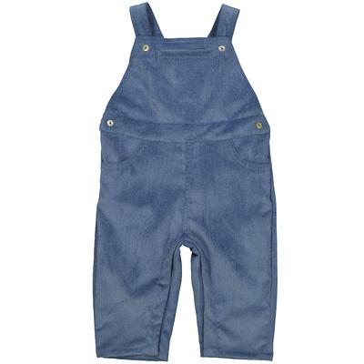 Salopette bébé garçon en velours bleu