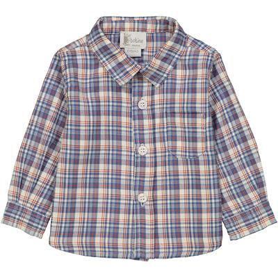 Chemise bébé à col pointu à carreaux