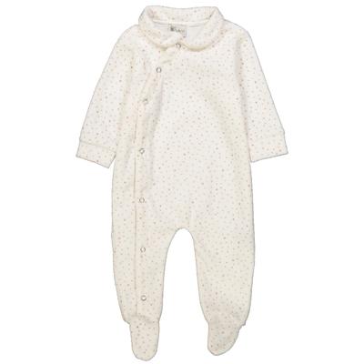 Pyjama bébé en velours à étoiles rose