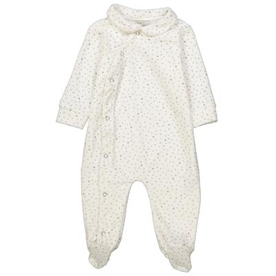 Pyjama bébé en velours à étoiles grises