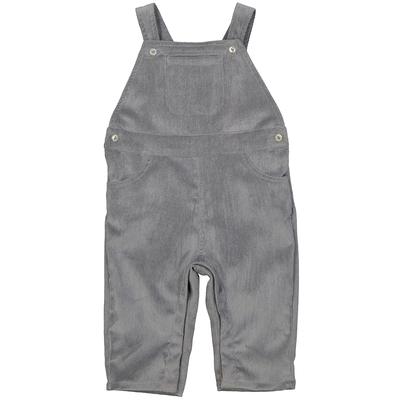 Salopette bébé garçon en velours gris