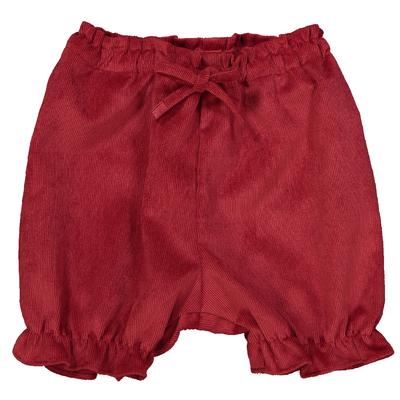 Panty volanté fille en velours rouge