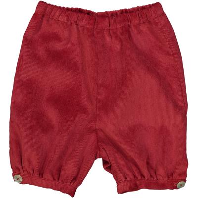 Panty garçon boutonné velours rouge